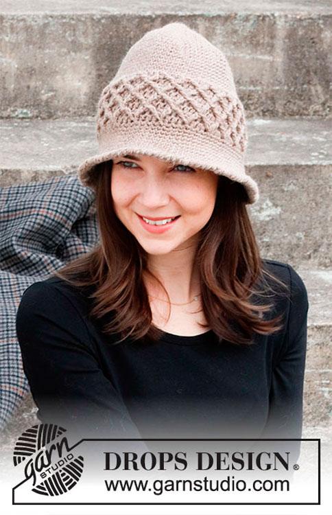 Gorro ou chapéu de verão em crochê
